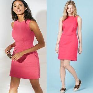 🌺 Boden Pink Chino Tunic Sleeveless Pocket Dress